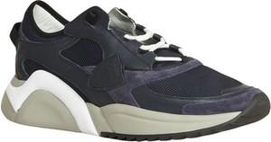 Czarne buty sportowe Philippe Model sznurowane w sportowym stylu