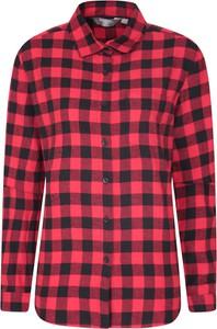 Czerwona koszula Mountain Warehouse z bawełny w stylu casual