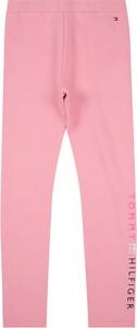 Różowe legginsy dziecięce Tommy Hilfiger