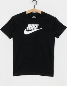 Czarna koszulka dziecięca Nike z bawełny z krótkim rękawem