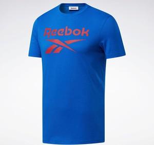 Niebieski t-shirt Reebok Fitness z dzianiny