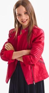 Czerwona kurtka Here And There w stylu casual krótka