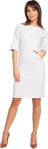 Sukienka Be z okrągłym dekoltem midi z krótkim rękawem