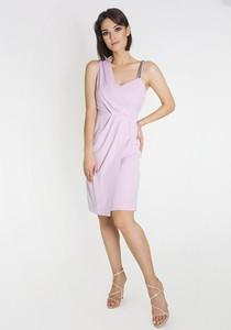 Sukienka Marcelini na ramiączkach asymetryczna