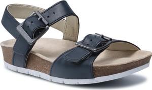 Granatowe buty dziecięce letnie Clarks na rzepy dla chłopców