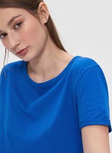 Niebieski t-shirt House z krótkim rękawem