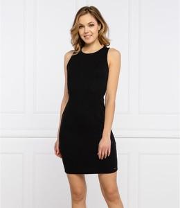Czarna sukienka Armani Exchange mini bez rękawów w stylu casual