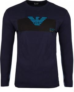 T-shirt Emporio Armani z bawełny z długim rękawem