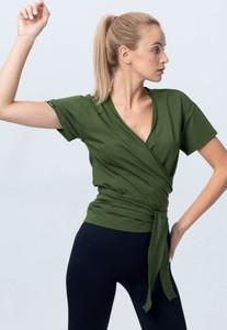Bluzka Reezy z dżerseju z krótkim rękawem z dekoltem w kształcie litery v