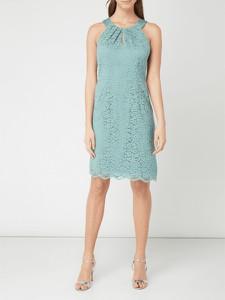 Miętowa sukienka Esprit bez rękawów z okrągłym dekoltem
