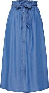 Niebieska spódnica Pieces midi