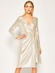 Sukienka Ralph Lauren z dekoltem w kształcie litery v z długim rękawem