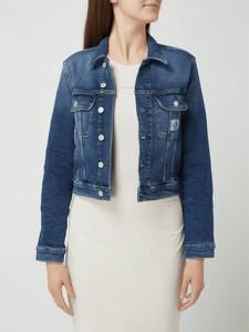 Niebieska kurtka Calvin Klein z bawełny krótka