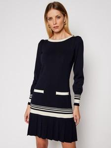 Czarna sukienka Luisa Spagnoli z długim rękawem