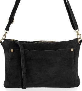 Czarna torebka VITTORIA GOTTI z zamszu w stylu glamour