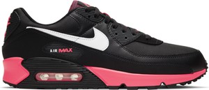 Czarne buty sportowe Nike ze skóry z płaską podeszwą