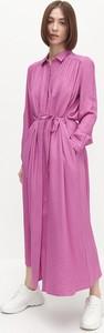 Sukienka Reserved maxi z długim rękawem szmizjerka