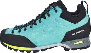 Niebieskie buty trekkingowe Scarpa sznurowane z płaską podeszwą