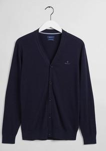 Niebieski sweter Gant w stylu casual z kaszmiru