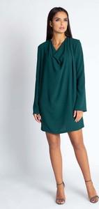 Sukienka Dursi z długim rękawem oversize z dekoltem w kształcie litery v