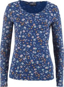 T-shirt bonprix bpc bonprix collection z długim rękawem w stylu casual