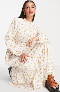 Sukienka Asos z długim rękawem maxi