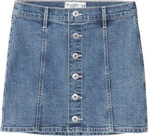 Niebieska spódniczka dziewczęca Abercrombie & Fitch z jeansu