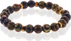 Em Men`s Accessories Bransoletka koraliki zielono-brązowa EM 46