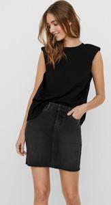 Czarna bluzka WARESHOP z bawełny