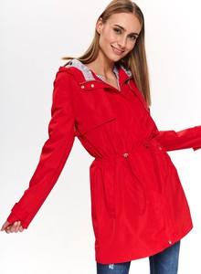 Czerwona kurtka Top Secret w stylu casual długa
