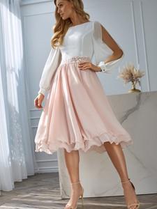Sukienka L'AF z szyfonu rozkloszowana