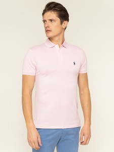 Różowa koszulka polo POLO RALPH LAUREN z krótkim rękawem