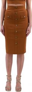 Brązowa spódnica Pinko midi z płótna