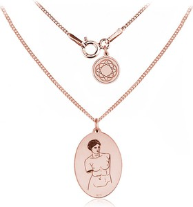 Lian Art Srebrny medalion z Wenus z Milo - Rose Gold
