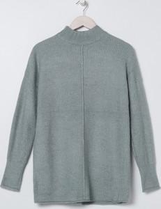 Miętowy sweter Sinsay w stylu casual