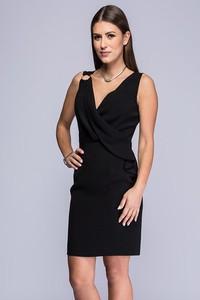 Sukienka Semper z tkaniny bez rękawów dopasowana