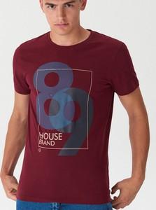 Czerwony t-shirt House z krótkim rękawem