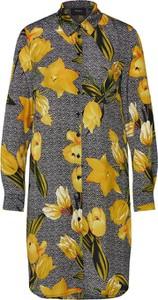 Sukienka Object koszulowa z dżerseju z długim rękawem