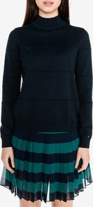 Granatowy sweter Tommy Hilfiger z bawełny