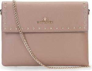8dba24b721f94 Różowa torebka Wittchen mała w stylu glamour