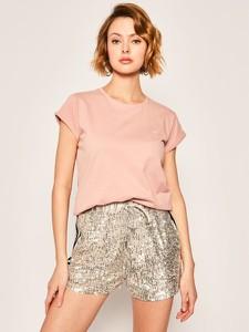 T-shirt Calvin Klein w stylu casual z okrągłym dekoltem