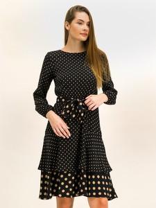 Sukienka Pennyblack mini z długim rękawem z okrągłym dekoltem