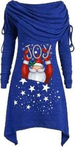 Niebieska sukienka Cikelly w stylu casual mini