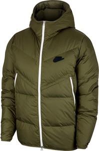Zielona kurtka Nike w stylu casual z polaru