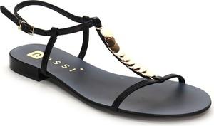 Czarne sandały Nessi ze skóry