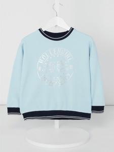 Niebieski sweter Review For Kids z bawełny