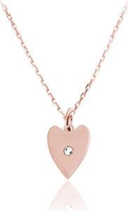 Lian Art Naszyjnik łańcuszek z serduszkiem Danielle - kryształ Swarovski® - rose gold