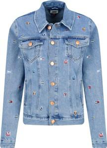 Niebieska kurtka Tommy Jeans krótka