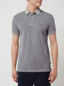 Srebrna koszulka polo Joop! z krótkim rękawem