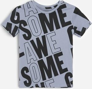 Granatowa koszulka dziecięca Reserved z krótkim rękawem dla chłopców